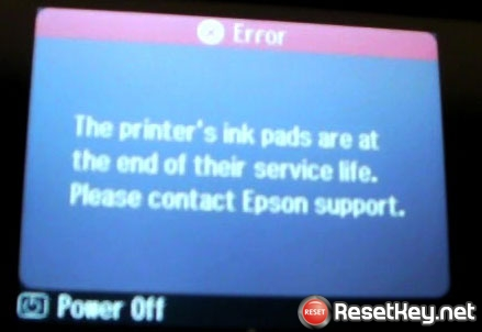 Reset Epson SX130 printer using Free Wic Reset Key